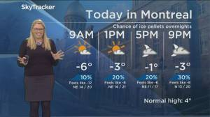 Global News Morning weather forecast: Monday November 18, 2019