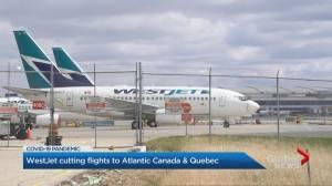 No refunds as WestJet slashes Atlantic routes (02:47)
