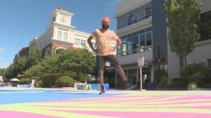 Canada's most famous Bhangra dancer leads virtual class in Victoria (00:35)