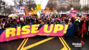 Women, allies march in fourth-annual National Women's March in Washington, D.C.