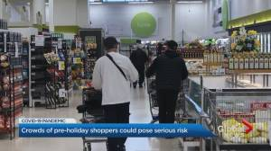 Coronavirus: Shoppers caught not physical distancing at grocery stores