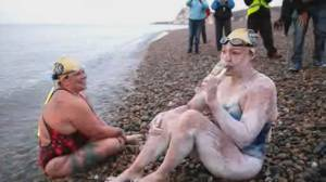 U.S. woman becomes first to swim English Channel four times non-stop
