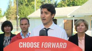 Federal Election 2019: Justin Trudeau plays Bocce in Fredericton