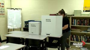 New Brunswick students cast ballots in mock election