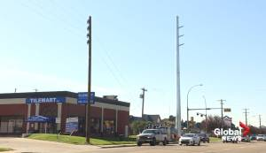Power pole replacement in south Edmonton raises eyebrows