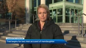 Trial begins for two men accused of Canada Day homicide in Kelowna (01:44)