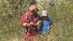 Two hikers, dog rescued from Canyon Falls Park in Kelowna (04:33)
