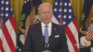 Biden calls on states to offer $100 COVID-19 vaccine incentive (01:02)