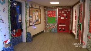 Decorated doors in Calgary seniors home captures true spirit of Christmas