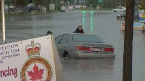 Powerful storm leaves trail of damage in Alberta (01:25)