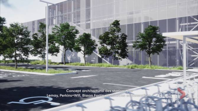 Click to play video: REM shares a sneak peak of what future West Island train stations will look like