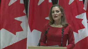 Freeland says she hopes opposition parties will vote in favour of CUSMA ratification