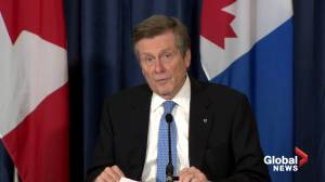 Coronavirus: Toronto Mayor Tory says he's trying to get message out to young people, employers (03:24)