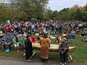 Hundreds attend climate strike at Millennium Park in Peterborough