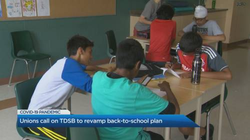 Unions call on TDSB to revamp back-to-school plan | Watch News Videos Online