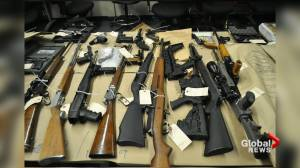 Firearms seized by Saskatoon police in 2019