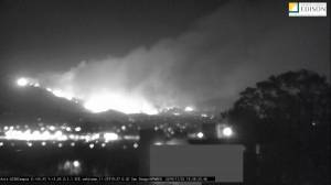 Timelapse video shows spread of wildfire in Santa Barbara, CA