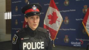 York Regional Police Const. Laura Nicolle speaks with Global News about 2019 impaired driving statistics