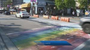 Popular Vancouver rainbow crosswalk covered in paint (00:37)