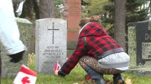 Cataraqui Cemetery tradition continues as veterans are honoured with flags at their grave sites