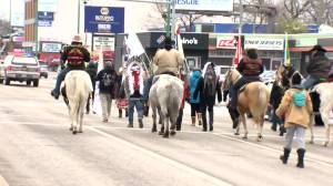 Spirit ride in solidarity with Mi'kmaq fishers (00:44)