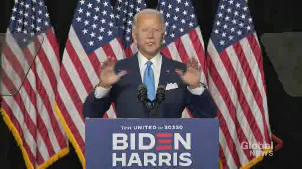 Click to play video 'Coronavirus: Biden says he and Kamala Harris have a science-based plan for the pandemic'