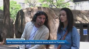 New 'Contact'-less, immersive theatre show lands in Toronto (04:41)