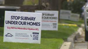 Anger growing over planned subway route under Thornhill neighbourhood (02:02)