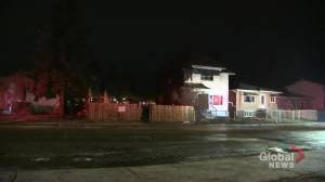 Home under construction in central Edmonton destroyed by fire Friday (01:48)