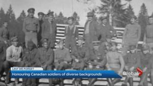 Honouring Canadian soldiers of diverse backgrounds