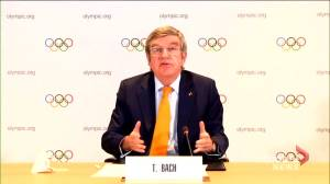 2021 Tokyo Olympics remains of track, logistics for public health measures still needed says IOC president (01:17)