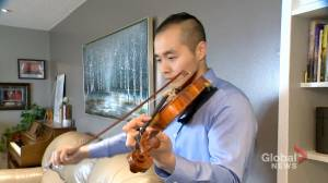 Saskatchewan Mountie plays violin tribute to those killed in Nova Scotia