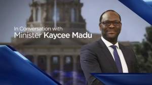 Speaking with Minister Kaycee Madu about Alberta budget