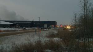 Fire breaks out at Shercom Industries rubber recycling plant north of Saskatoon