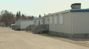 Despite an indefinite suspension of in-classroom instruction, several hundred Okanagan students did head to class on Monday (02:34)