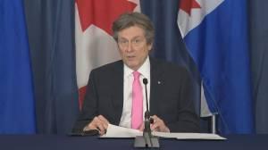 Coronavirus: Toronto mayor announces cancellation of public events until July 2021 (01:48)