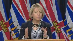 Provincial health officer Dr. Bonnie Henry announces B.C. mask mandate (02:39)