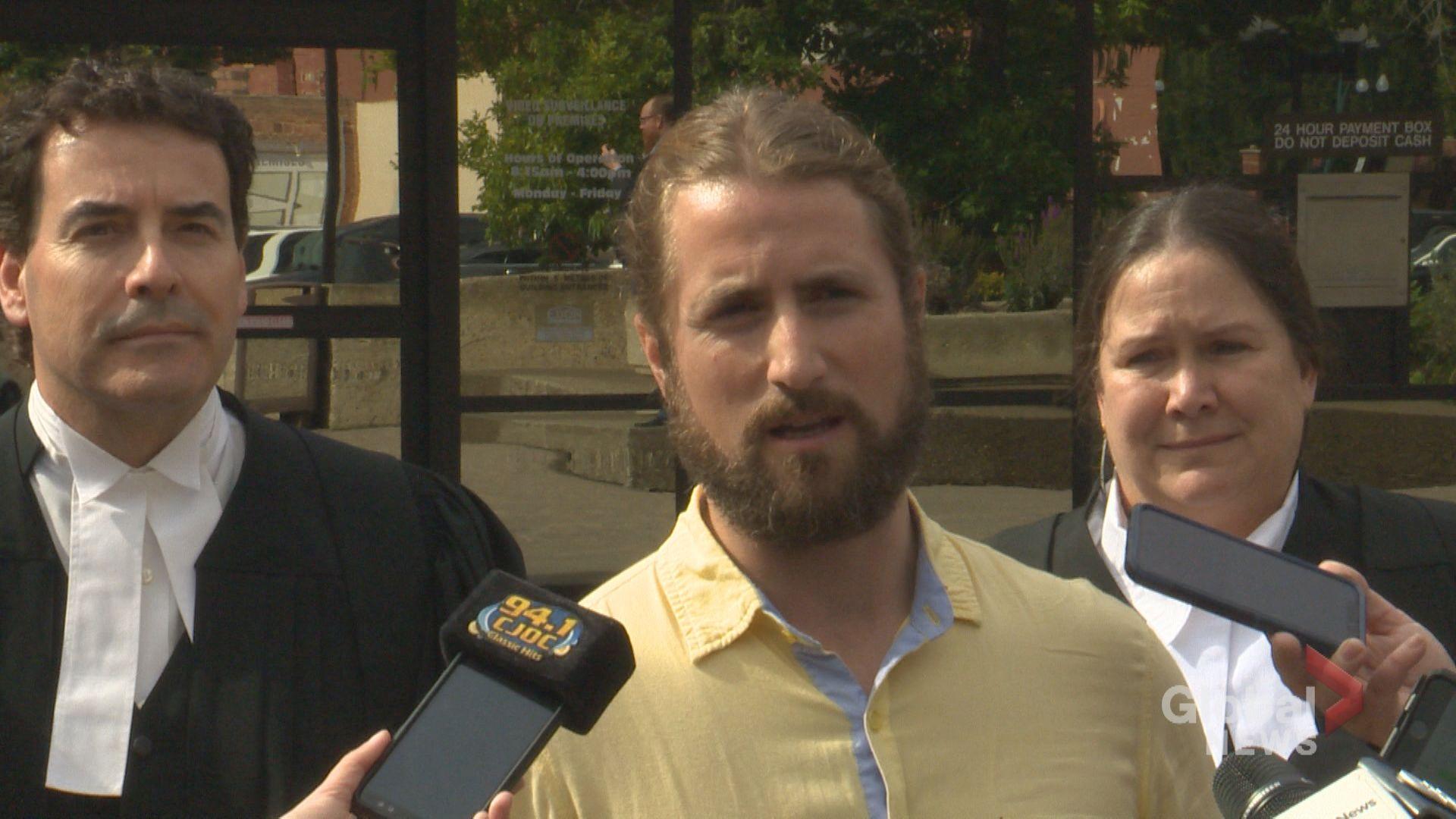 David Stephan speaks to media following acquittal