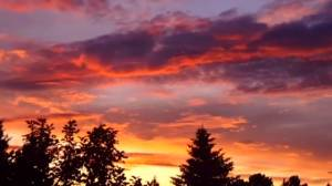 Edmonton sky lit up by dramatic sunset (00:45)