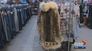 Vintage sealskin parka left in Edmonton Goodwill donation bin (02:00)