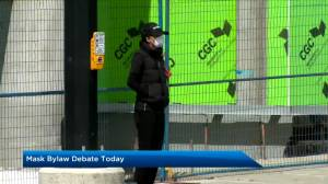 City council to debate expiration of Calgary temporary face covering bylaw (01:29)