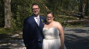 Hurricane Dorian: Newlywed couple says their wedding went 'awesome' despite storm