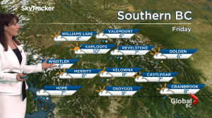 B.C. evening weather forecast: April 8 Abstract: (01:43)