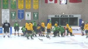 The Amherstview Junior C Jets are happy to be back on the ice (02:06)