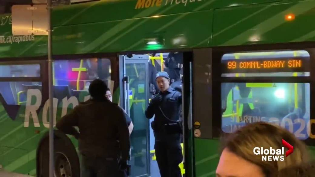 Man arrested on TransLink bus, witness says he tried to grab police gun