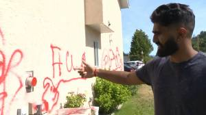 Hate-motivated vandalism in Summerland (02:19)