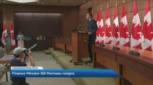 Finance Minister Bill Morneau resigns