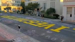 White couple wanted for vandalizing over 'Black Lives Matter' street mural