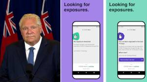 Coronavirus: Ontario premier, treasury board president discuss how COVID Alert app works