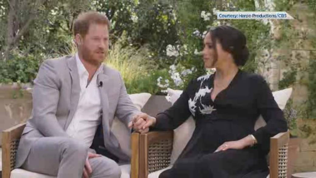 Click to play video 'Harry and Meghan break silence on royal life in Oprah interview'